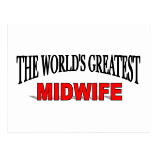 The World's Greatest Midwife Postcard