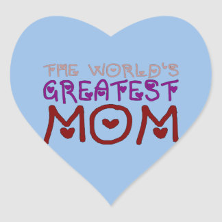 The World's Greatest Mom Mother's Day & Birthday Heart Sticker