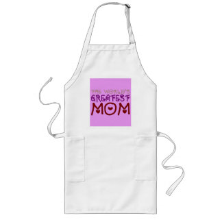 The World's Greatest Mom (Mother's Day & Birthday) Long Apron