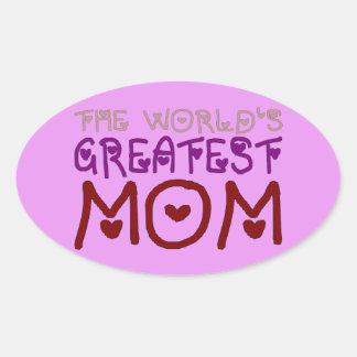 The World's Greatest Mom (Mother's Day & Birthday) Sticker