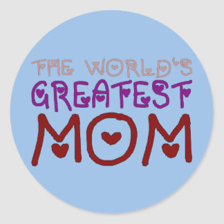 The World's Greatest Mom Mother's Day & Birthday Stickers