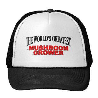 The World's Greatest Mushroom Grower Mesh Hats
