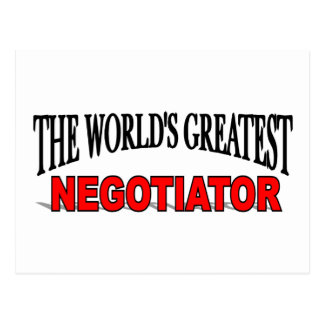 The World's Greatest Negotiator Postcard