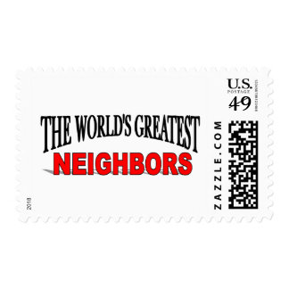 The World's Greatest Neighbors Postage Stamps