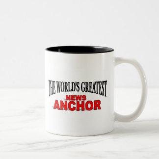 The World's Greatest News Anchor Two-Tone Coffee Mug