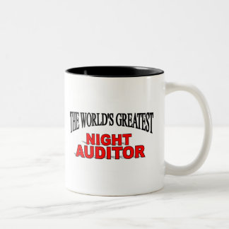 The World's Greatest Night Auditor Two-Tone Coffee Mug
