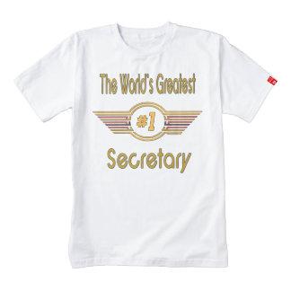 The World's Greatest Number One Secretary Zazzle HEART T-Shirt