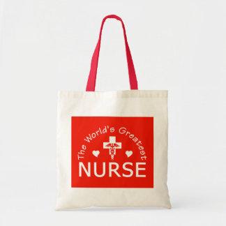 The World's Greatest Nurse bag - choose style