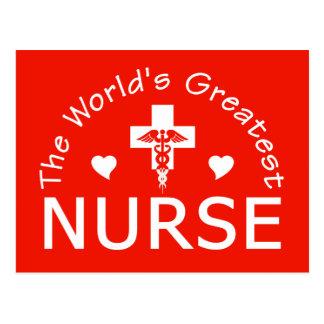 The World's Greatest Nurse postcard, customize Postcard