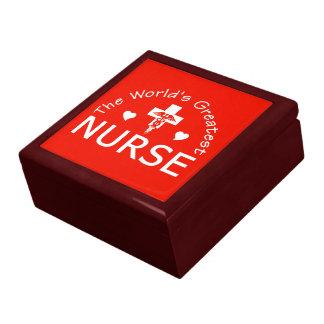 The World's Greatest Nurse trinket / jewelry box