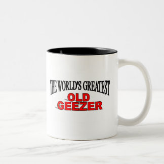 The World's Greatest Old Geezer Two-Tone Coffee Mug