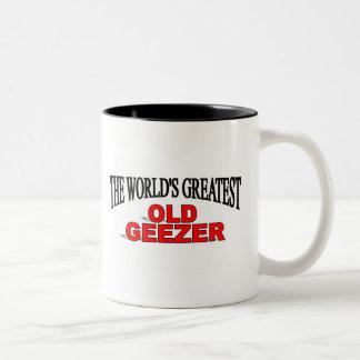 The World's Greatest Old Geezer Two-Tone Coffee Mug