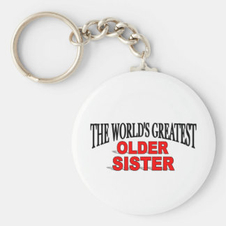 The World's Greatest Older Sister Keychain