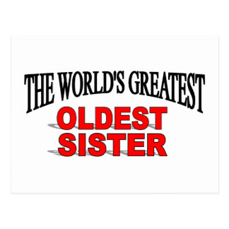 The World's Greatest Oldest Sister Postcard