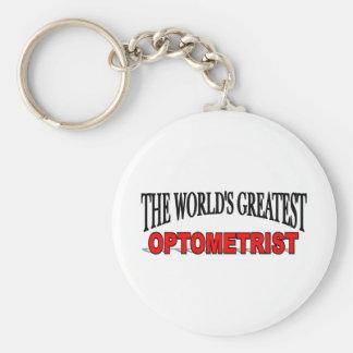 The World's Greatest Optometrist Basic Round Button Keychain