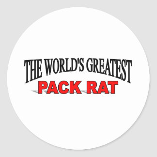 The World's Greatest Pack Rat Classic Round Sticker