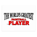 The World's Greatest Paintball Player Post Cards