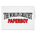 The World's Greatest Paperboy Greeting Card