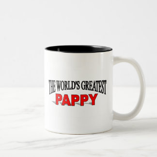 The World's Greatest Pappy Two-Tone Coffee Mug