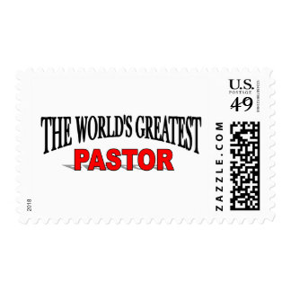 The World's Greatest Pastor Postage Stamps