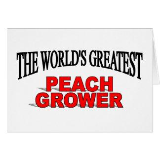 The World's Greatest Peach Grower Card