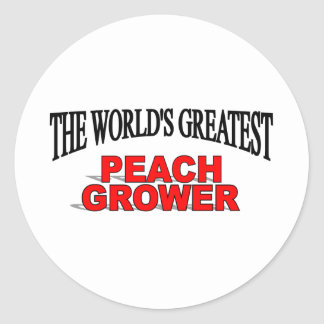 The World's Greatest Peach Grower Classic Round Sticker