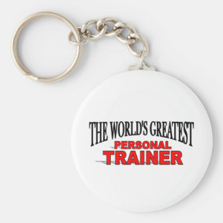 The World's Greatest Personal Trainer Basic Round Button Keychain