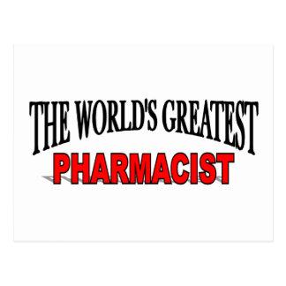 The World's Greatest Pharmacist Postcard