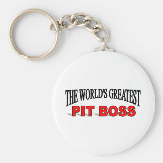 The World's Greatest Pit Boss Keychain
