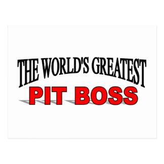 The World's Greatest Pit Boss Postcard