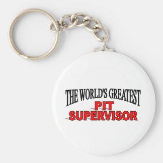 The World's Greatest Pit Supervisor Basic Round Button Keychain