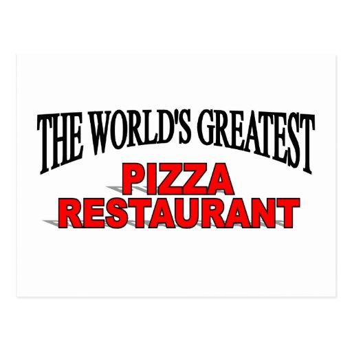 The World's Greatest Pizza Restaurant Postcard