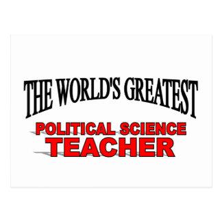 The World's Greatest Political Science Teacher Postcard