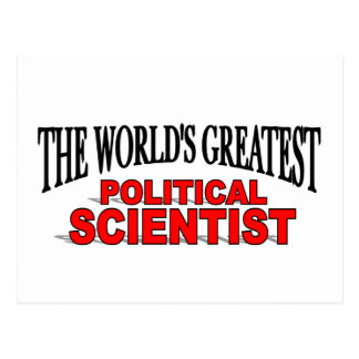 The World's Greatest Political Scientist Postcard