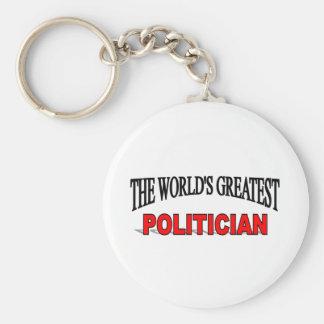 The World's Greatest Politician Basic Round Button Keychain