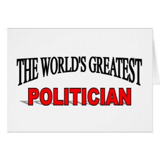The World's Greatest Politician Card