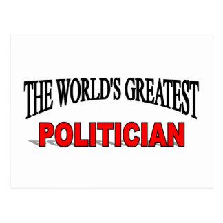 The World's Greatest Politician Postcard