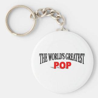 The World's Greatest Pop Basic Round Button Keychain