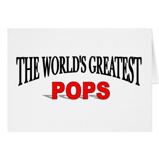 The World's Greatest Pops Card