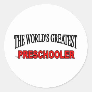 The World's Greatest Pre Schooler Classic Round Sticker