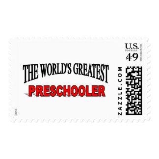 The World's Greatest Pre Schooler Stamp