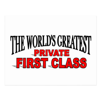 The World's Greatest Private First Class Postcard