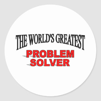 The World's Greatest Problem Solver Classic Round Sticker