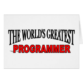 The World's Greatest Programmer Card