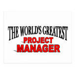 The World's Greatest Project Manager Post Card