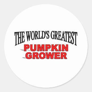The World's Greatest Pumpkin Grower Classic Round Sticker