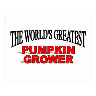 The World's Greatest Pumpkin Grower Postcard