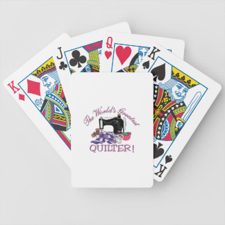 The Worlds Greatest Quilter Bicycle Playing Cards
