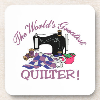 The Worlds Greatest Quilter Coaster
