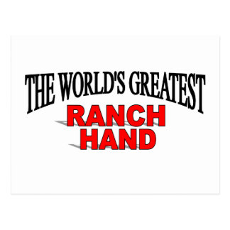 The World's Greatest Ranch Hand Postcard